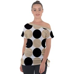 Dots Effect  Tie Up Tee by TimelessFashion
