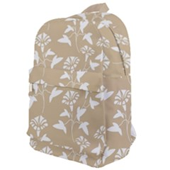Floral In Almond Buff And White Classic Backpack by TimelessFashion