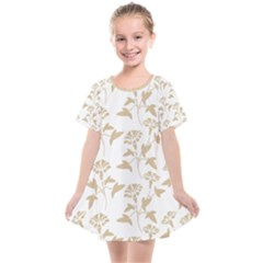 Floral In Almond Buff And White Kids  Smock Dress by TimelessFashion