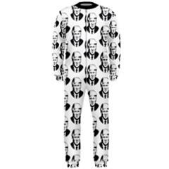 Trump Retro Face Pattern Maga Black And White Us Patriot Onepiece Jumpsuit (men)  by snek