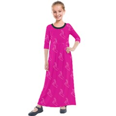 A Ok Perfect Handsign Maga Pro Trump Patriot On Pink Background Kids  Quarter Sleeve Maxi Dress