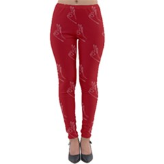 A Ok Perfect Handsign Maga Pro Trump Patriot On Maga Red Background Lightweight Velour Leggings