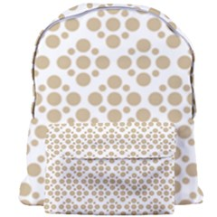Floral Dot Series   Almond Buff And White Giant Full Print Backpack