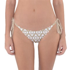 Floral Dot Series   White And Almond Buff Reversible Bikini Bottom by TimelessFashion