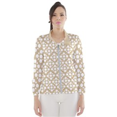 Floral Dot Series   White And Almond Buff Windbreaker (women)