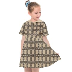 Grid Of Elegance  Kids  Sailor Dress