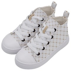 Heart Lines Kids  Mid Top Canvas Sneakers by TimelessFashion