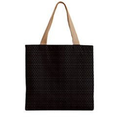 Hexagon Effect  Zipper Grocery Tote Bag by TimelessFashion