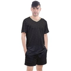 Hexagon Effect  Men s Mesh Tee And Shorts Set by TimelessFashion