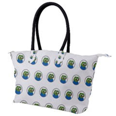 Apu Apustaja With Banana Phone Wall Eyed Pepe The Frog Pattern Kekistan Canvas Shoulder Bag by snek