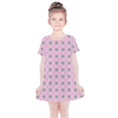 Kekistan Logo Pattern On Pink Background Kids  Simple Cotton Dress by snek