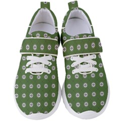 Logo Kekistan Pattern Elegant With Lines On Green Background Women s Velcro Strap Shoes by snek