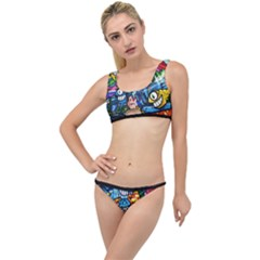 Graffiti Urban Colorful Graffiti Cartoon Fish The Little Details Bikini Set
