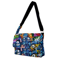 Graffiti Urban Colorful Graffiti Cartoon Fish Full Print Messenger Bag