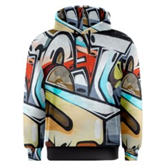 Blue Face King Graffiti Street Art Urban Blue And Orange Face Abstract Hiphop Men s Overhead Hoodie