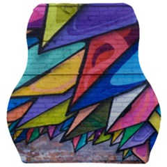 Urban Colorful Graffiti Brick Wall Industrial Scale Abstract Pattern Car Seat Velour Cushion
