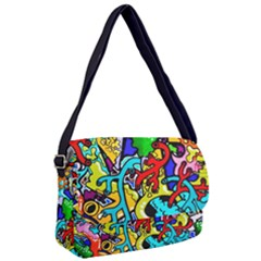 Graffiti Abstract With Colorful Tubes And Biology Artery Theme Courier Bag