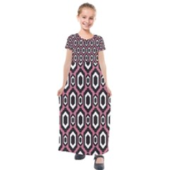 Decorative Pattern Kids  Short Sleeve Maxi Dress by Valentinaart