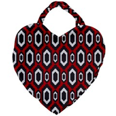 Decorative Pattern Giant Heart Shaped Tote