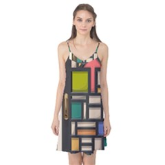 Door Stained Glass Stained Glass Camis Nightgown by Pakrebo
