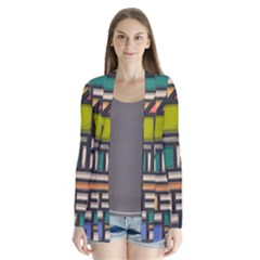 Door Stained Glass Stained Glass Drape Collar Cardigan by Pakrebo