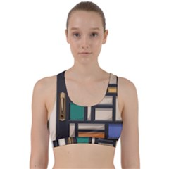 Door Stained Glass Stained Glass Back Weave Sports Bra