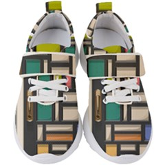 Door Stained Glass Stained Glass Kids  Velcro Strap Shoes