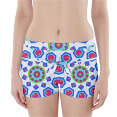 Mandala Geometric Design Pattern Boyleg Bikini Wrap Bottoms by Pakrebo