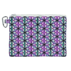 Geometric Patterns Triangle Seamless Canvas Cosmetic Bag (xl)