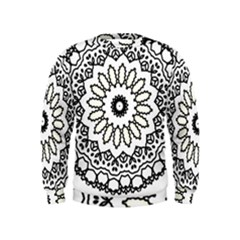 Mandala Kaleidoscope Arts Kids  Sweatshirt