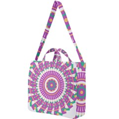 Mandala Geometric Pattern Shapes Square Shoulder Tote Bag