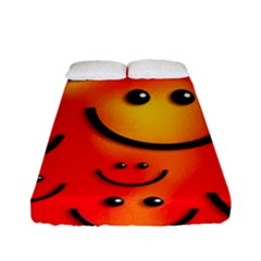 Smile Smiling Face Happy Cute Fitted Sheet (full/ Double Size)