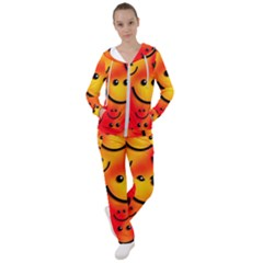 Smile Smiling Face Happy Cute Women s Tracksuit