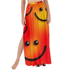 Smile Smiling Face Happy Cute Maxi Chiffon Tie Up Sarong