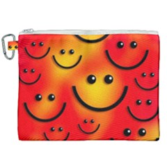 Smile Smiling Face Happy Cute Canvas Cosmetic Bag (xxl)
