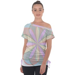 Flower Stained Glass Window Symmetry Tie Up Tee