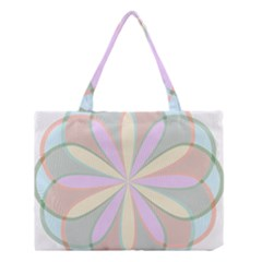 Flower Stained Glass Window Symmetry Medium Tote Bag by Pakrebo