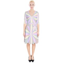 Flower Stained Glass Window Symmetry Wrap Up Cocktail Dress by Pakrebo