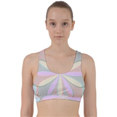 Flower Stained Glass Window Symmetry Back Weave Sports Bra