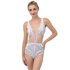 Flower Stained Glass Window Symmetry Tied Up Two Piece Swimsuit