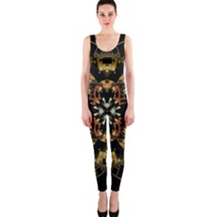 Fractal Stained Glass Ornate One Piece Catsuit by Pakrebo