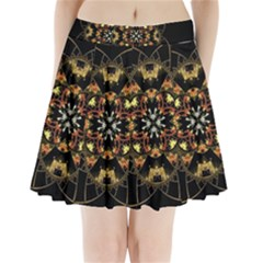 Fractal Stained Glass Ornate Pleated Mini Skirt by Pakrebo