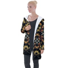 Fractal Stained Glass Ornate Longline Hooded Cardigan by Pakrebo