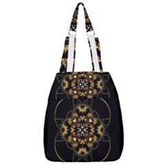 Fractal Stained Glass Ornate Center Zip Backpack