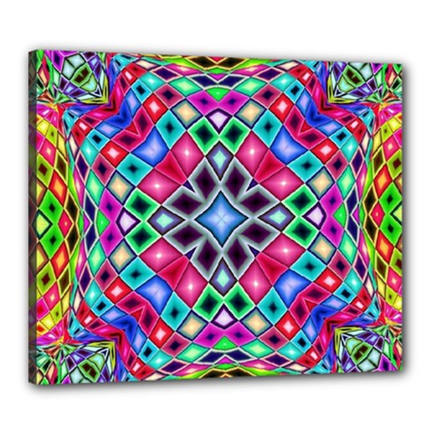 Kaleidoscope Pattern Sacred Geometry Canvas 24  X 20  (stretched)
