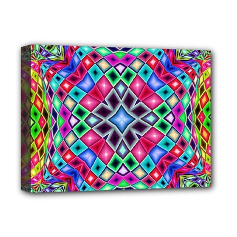 Kaleidoscope Pattern Sacred Geometry Deluxe Canvas 16  X 12  (stretched)