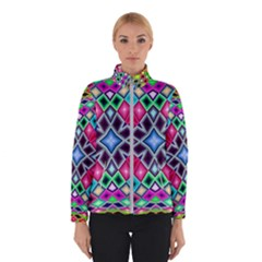 Kaleidoscope Pattern Sacred Geometry Winter Jacket by Pakrebo