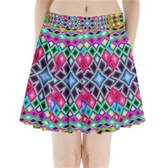 Kaleidoscope Pattern Sacred Geometry Pleated Mini Skirt by Pakrebo