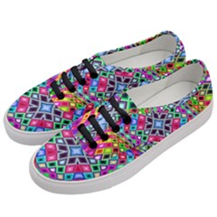 Kaleidoscope Pattern Sacred Geometry Women s Classic Low Top Sneakers by Pakrebo