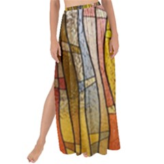 Stained Glass Window Colorful Maxi Chiffon Tie Up Sarong